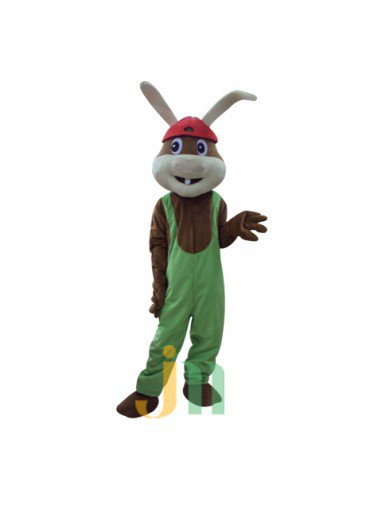 Red Hat Lovely Cartoon Rabbit Walking Doll Clothing Doll Cartoon Rabbit Doll Hedging Hat Mascot Costume