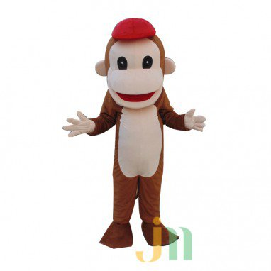 Red Hat Monkey Cartoon Walking Doll Clothing Doll Cartoon Monkey Hedging Hat Mascot Costume