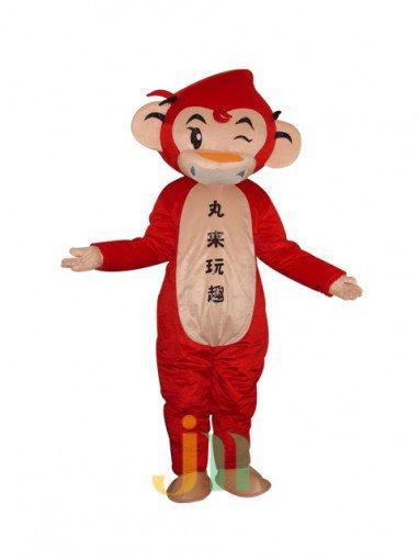 Red Monkey Doll Cartoon Clothing Cartoon Walking Doll Hedging Red Monkey Mascot Costume