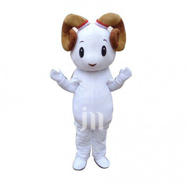 White Sheep Cartoon Doll Cartoon Walking Doll Clothing Sets Small Aries Sheep Mascot Mascot Costume