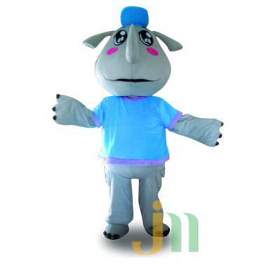 Brother Cartoon Rhino Walking Doll Doll Cartoon Clothing Sets Rhinos Brother Mascot Costume