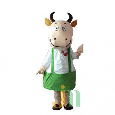 Cartoon Cow Dad Walking Doll Clothing Doll Cartoon Cow Suit Daddy Doll Mascot Costume