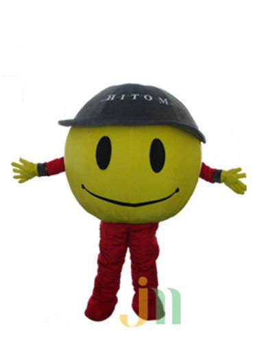 Cartoon Doll Clothing Walking Hedging Mascot Costumes Green Cap Yellow Ball Decoration Animation Activities