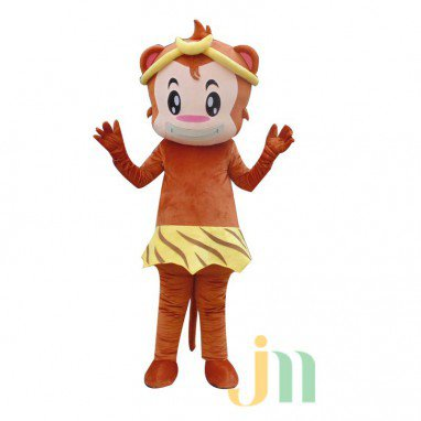 Cartoon Doll Cartoon Monkey Leopard Skirt Walking Doll Clothing Hedging Leopard Skirt Monkey Mascot Costume