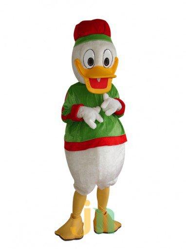 Christmas Donald Duck Cartoon Dolls Clothing Walking Doll Hedging Christmas Donald Duck Mascot Costume
