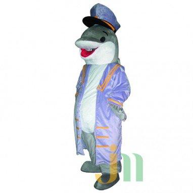 Navy Dolphin Cartoon Doll Cartoon Walking Doll Clothing Hedging Navy Dolphins Mascot Costume