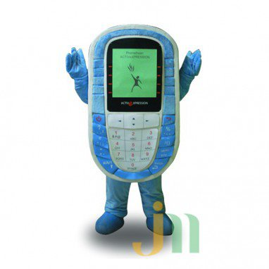 Blue Cartoon Walking Doll Clothing Doll Cartoon Phone Hedging Blue Phone Mascot Costume