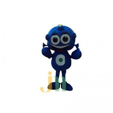 Blue Robot Doll Cartoon Clothing Cartoon Walking Doll Hedging Blue Robot Mascot Costume