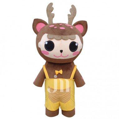 Cartoon Deer Walking Doll Doll Cartoon Clothing Sets Cute Pudgy Plum Deer Head Mascot Costume