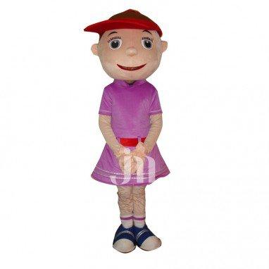 Cartoon Doll Cute Tennis Girl Cartoon Clothing Sets Head Tennis Girl Walking Doll Mascot Costume
