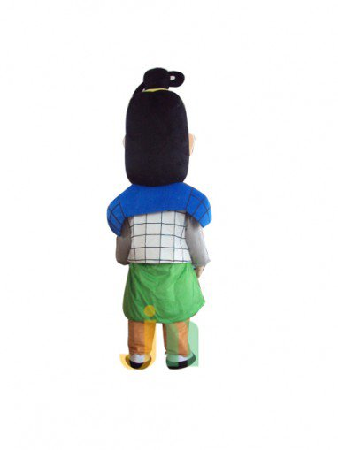 Terracotta Lovely Blue Cartoon Doll Cartoon Walking Doll Clothing Hedging Blue Terracotta Mascot Costume