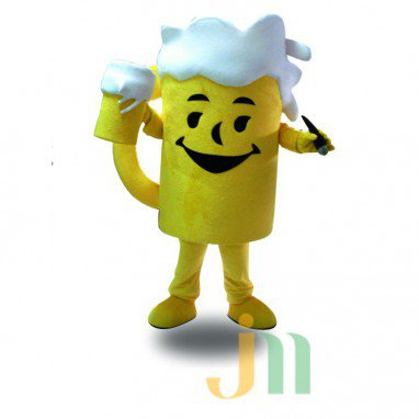 Beer Mug Cartoon Clothing Cartoon Walking Doll Doll Hedging Beer Mug Mascot Costume