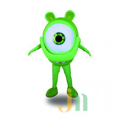 Cartoon Green Eyes Doll Cartoon Walking Doll Clothing Sets Head Green Eyes Mascot Costume