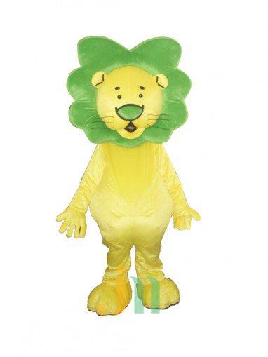 Small Green Head Lion Walking Doll Doll Cartoon Clothing Sets Small Head Green Head Lion Mascot Costume