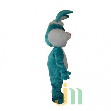 Blue Rabbit Cartoon Doll Cartoon Walking Doll Clothing Hedging Blue Rabbit Mascot Costume