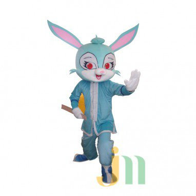 Blue Rabbit Cartoon Doll Cartoon Walking Doll Clothing Hedging Blue Rabbit Mascot Costume