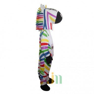Color Cartoon Zebra Walking Doll Doll Cartoon Clothing Set Color Zebra Head Mascot Costume
