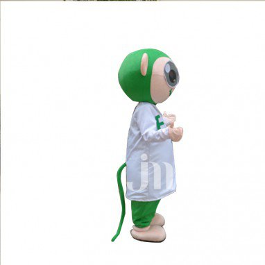 Green Monkey Cartoon Doll Cartoon Walking Doll Clothing Hedging Green Monkey Mascot Costume