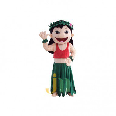 Lilo & Stitch Cartoon Protagonist Hawaiian Girl Lilo Lovely Wind Doll Clothing Walking Hedging Mascot Costume