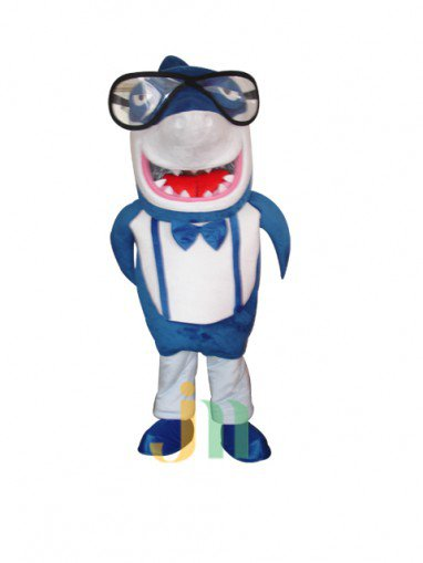 Lovely Cartoon Doll Cartoon Shark Shark Shark Shark Jacket Walking Doll Clothing Doll Mascot Costume