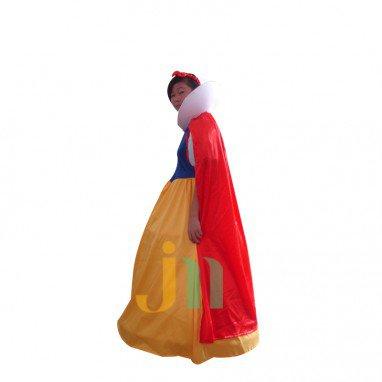Snow White Faceless Dolls Cartoon Clothing Walking Doll Hedging The Snow Princess Mascot Costume