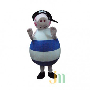 Cartoon Pirate Pig Even Walking Doll Cartoon Clothing Sets Pirate Pig Dolls Mascot Costume