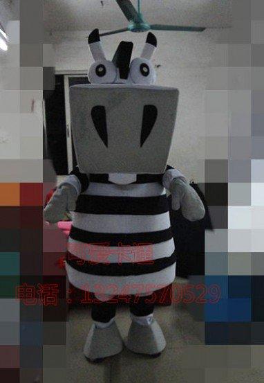 Black and White Team Doll Clothing Cartoon Show Clothing Clothing Cartoon Mascot Obama Mascot Costume