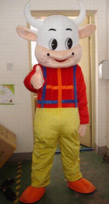 Cartoon Doll Clothing Cartoon Clothing Costume Mascot Costume Cow Huang Gezi