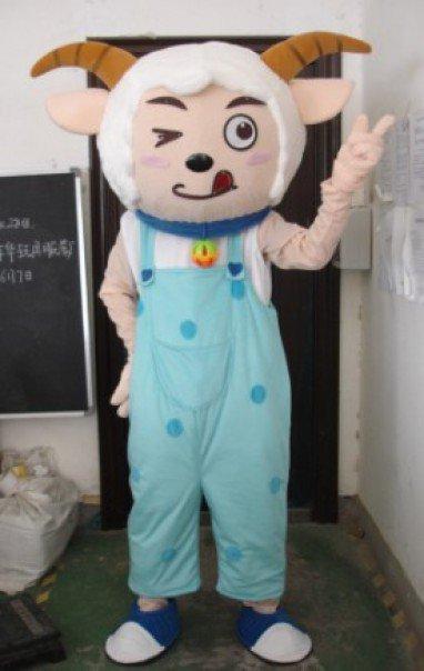 Television Animal Cartoon Clothing Apparel Clothing Apparel Advertising Strap Blue Sheep Hi Mascot Costume