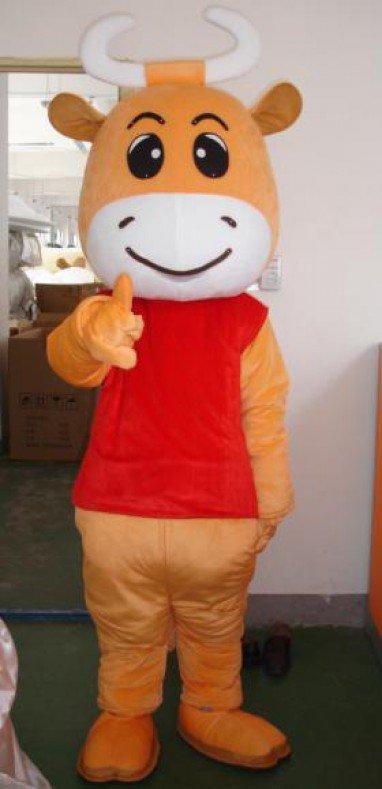 Future Mascot Cartoon Clothing Performance Clothing Cartoon Doll Clothing Cartoon Clothes Cattle Mascot Costume