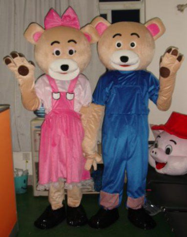 Cartoon Doll Clothing Apparel Clothing Cartoon Bear Cartoon Clothing Couple Mascot Costume