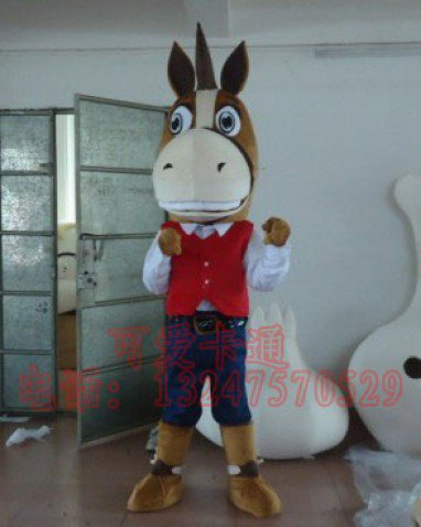 Zodiac Doll Clothing Cartoon Clothing Cartoon Animation Character Costume Cowboy Horse Mascot Costume