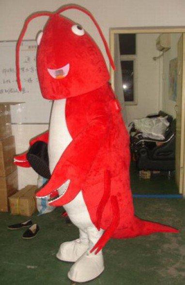 Cartoon Costumes Cartoon Doll Clothing Cartoon Mascot Costume Clothing Red Shrimp