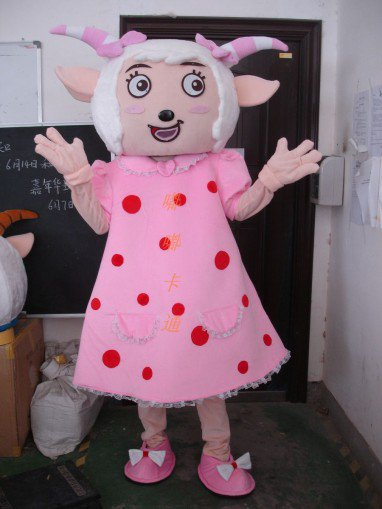 Cartoon Costumes Walking Cartoon Doll Clothing Cartoon Costumes Beautiful Sheep Mascot Costume