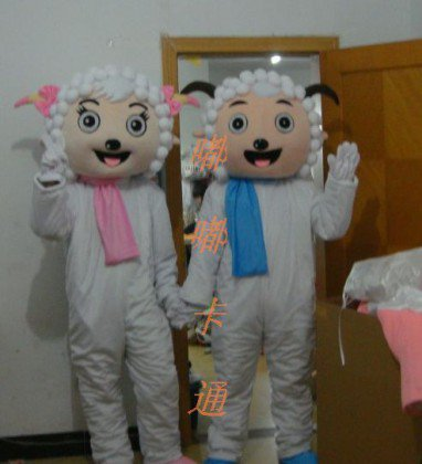 Cartoon Costumes Walking Cartoon Doll Clothing Cartoon Costumes Beautiful Sheep Pleasant Mascot Costume