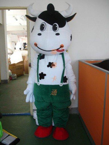 Cartoon Costumes Walking Cartoon Doll Cartoon Doll Clothing Cartoon Costumes Green Mengniu Mascot Costume