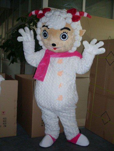 Cartoon Costumes Walking Cartoon Doll Clothing Cartoon Costumes Beautiful Sheep Mascot Costume