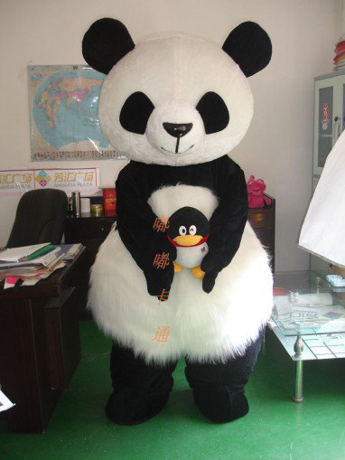 Cartoon Costumes Walking Cartoon Doll Cartoon Doll Clothing Cartoon Costumes Hairy Panda Mascot Costume