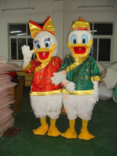 Cartoon Costumes Walking Cartoon Doll Clothing Costume Donald Duck Cartoon Costumes Mascot Costume