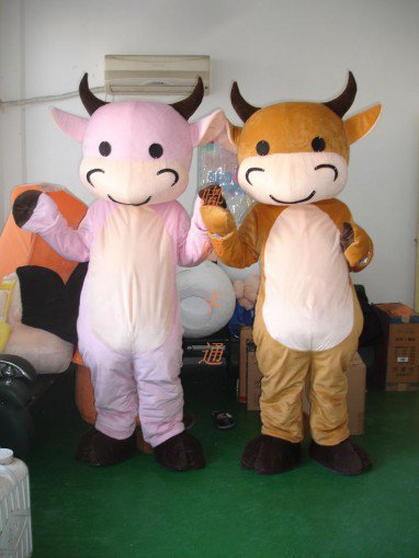 Manufacturers Sold Clothing Walking Cartoon Cartoon Doll Clothing Cartoon Costumes Cartoon Cow Baby Doll Mascot Costume