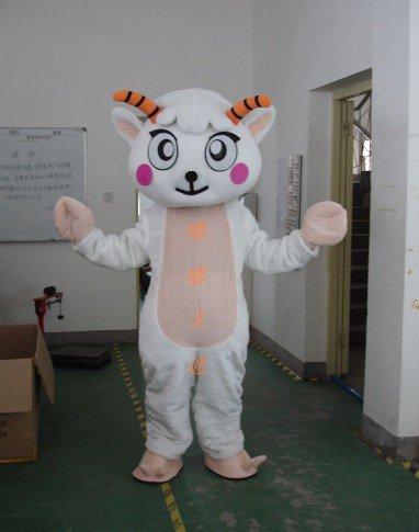 Sheep Walking Cartoon Doll Clothing Apparel Animal Shows A Zodiac Sheep Mascot Mascot Costume