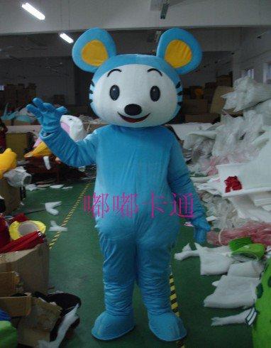 Cartoon Doll Clothing Cartoon Show Clothing Apparel Clothing Blue Mouse Cartoon Animation Film Mascot Costume