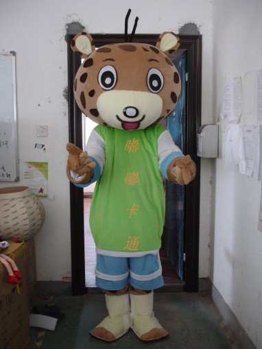 Walking Cartoon Doll Clothing Cartoon Show Clothing Cartoon Cartoon Costumes Leopard Mascot Costume