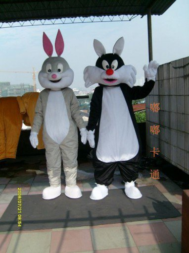 Walking Cartoon Doll Clothing Cartoon Show Clothing Children Cartoon Clothing Rabbit and The Wolf Mascot Costume
