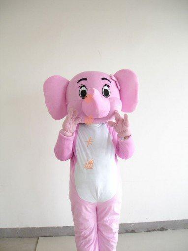 Cartoon Costumes Walking Cartoon Doll Clothing Cartoon Clothing Pink Elephant Mascot Costume