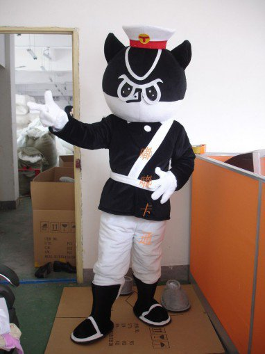 Cartoon Costumes Walking Cartoon Doll Clothing Cartoon Costumes Black Sergeant Mascot Costume
