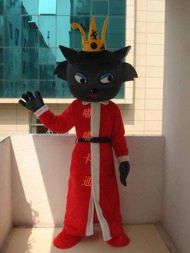 Cartoon Costumes Walking Cartoon Doll Clothing Cartoon Costumes Red Wolf Mascot Costume