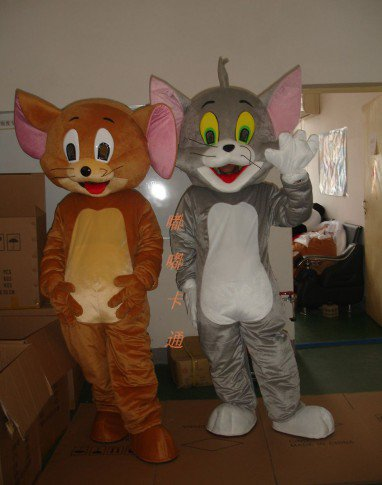 Walking Cartoon Doll Clothing Cartoon Clothing Cartoon Mouse and Cat Apparel Clothing Geely Mascot Costume