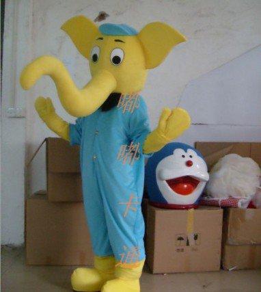 Cartoon Costumes Walking Cartoon Doll Clothing Cartoon Costumes Elephant Mascot Costume