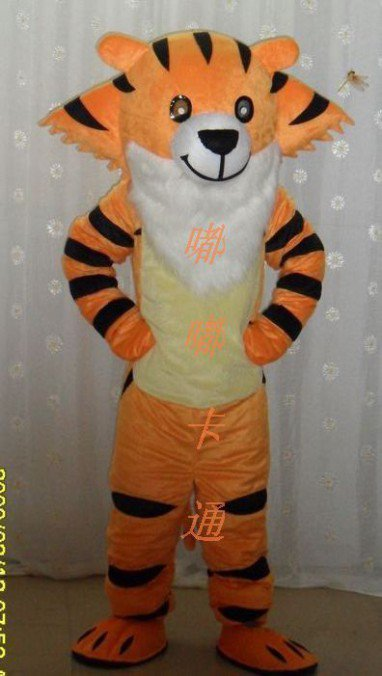 Celebration Cartoon Costumes Cartoon Doll Clothing Cartoon Show Clothing Apparel Advertising Tiger Mascot Costume